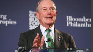 Cựu thị trưởng New York, Michael Bloomberg, tại Diễn đàn Bloomberg Global Business ở New York, ngày 26/09/2018.