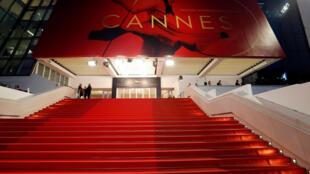 Famoso tapete vermelho do Festival de cinema de Cannes.
