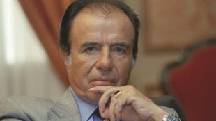 AP20355596631324 Argentine président Carlos Menem