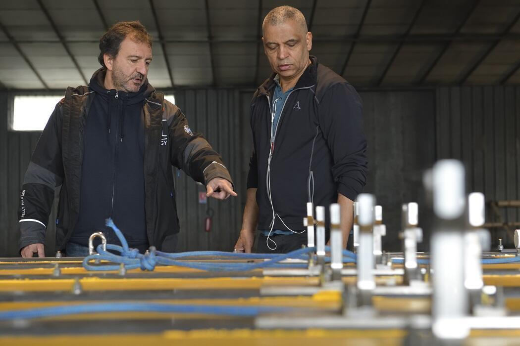 Franck Sylvain (g) et Jean-Baptiste Drevet (d), les deux instigateurs du projet.