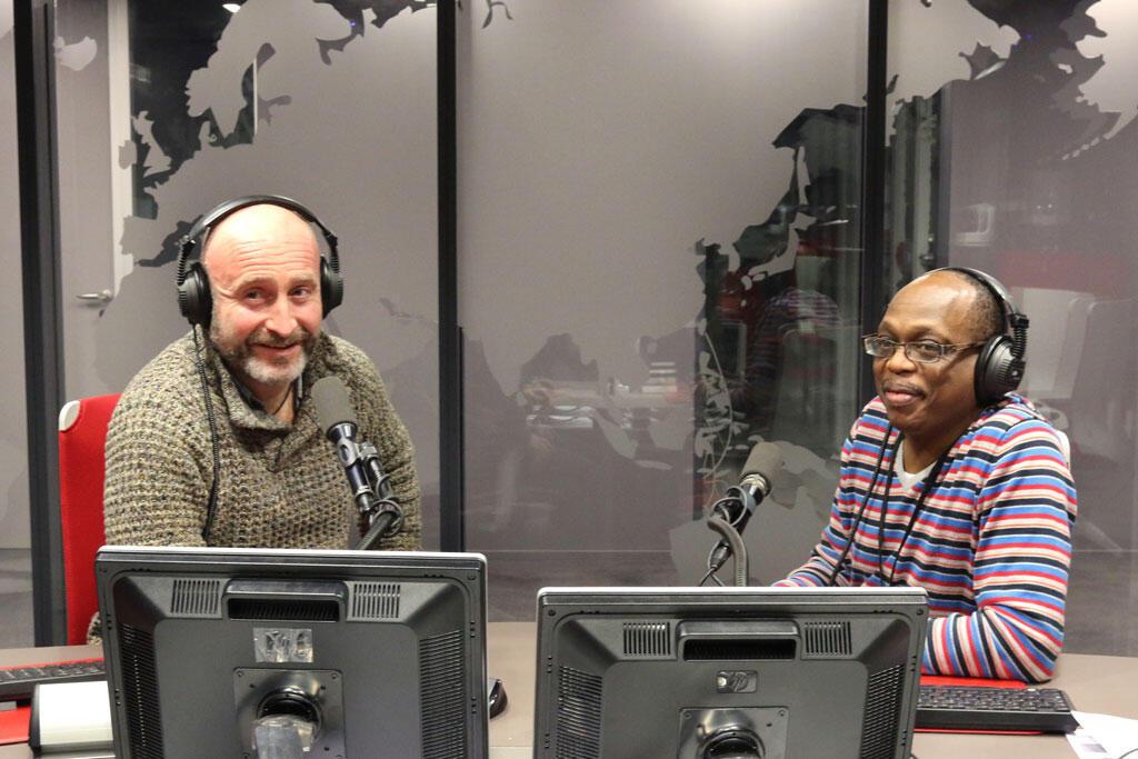 Marc Minatel et Eric Amiens en studio pour le Club RFI.
