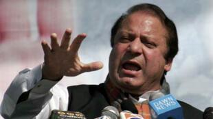 Nawaz Sharif, le chef le plus populaire de l'opposition, a appelé les Pakistanais à