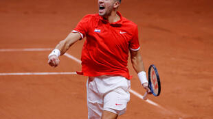Borna Coric won Croatia's first point in the 2018 Davis Cup final against France.