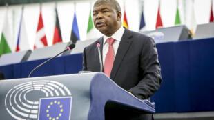 João Lourenço no Parlamento Europeu a 4 de Julho de 2018.