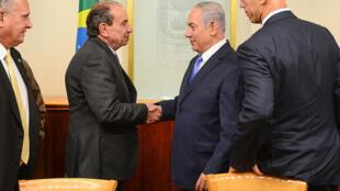 Reunião entre o chanceler Aloysio Nunes e o primeiro-ministro de Israel, Benjamin Netanyahu.