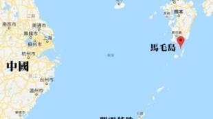 图为香港东网刊登马毛岛地形图