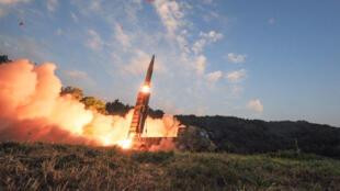 A Coreia do Sul fez um exercício de mísseis balísticos no final deste domingo em resposta ao teste nuclear da Coreia do Norte.