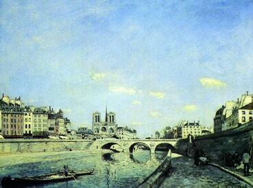 Sông Seine và Nhà thờ Đức Bà Paris của họa sĩ Hà Lan Jongkind (La Seine et Notre-Dame de Paris ©RMN Musée d'Orsay) J.G Berizzi
