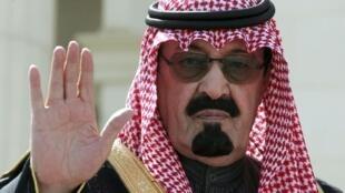 Le roi Abdallah à Riyad, le 5 février 2005.