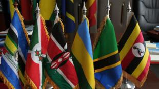 Bendera za nchi wanachama za Jumuiya ya Afrika Mashariki