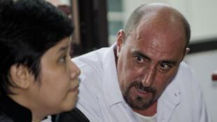 Serge Atlaoui at a hearing near Jakarta, 1 April 2015