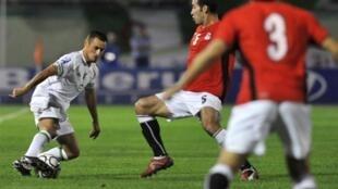 L'Algérien Karim Ziani face à l'Egypte.
