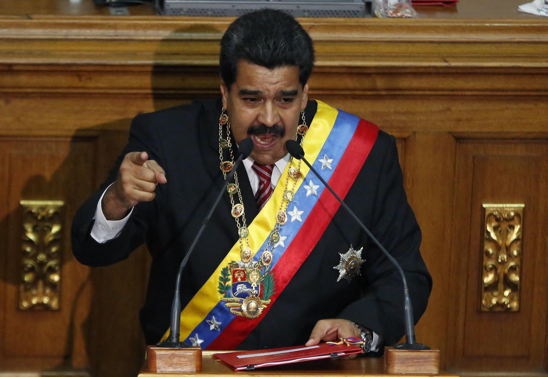 Nicolas Maduro à Caracas, le 10 mars 2015, à l'Assemblée nationale.
