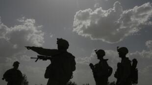 US soldiers on patrol in Afghanistan.