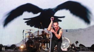 Depeche Mode en concert au Royal Albert Hall, à Londres.