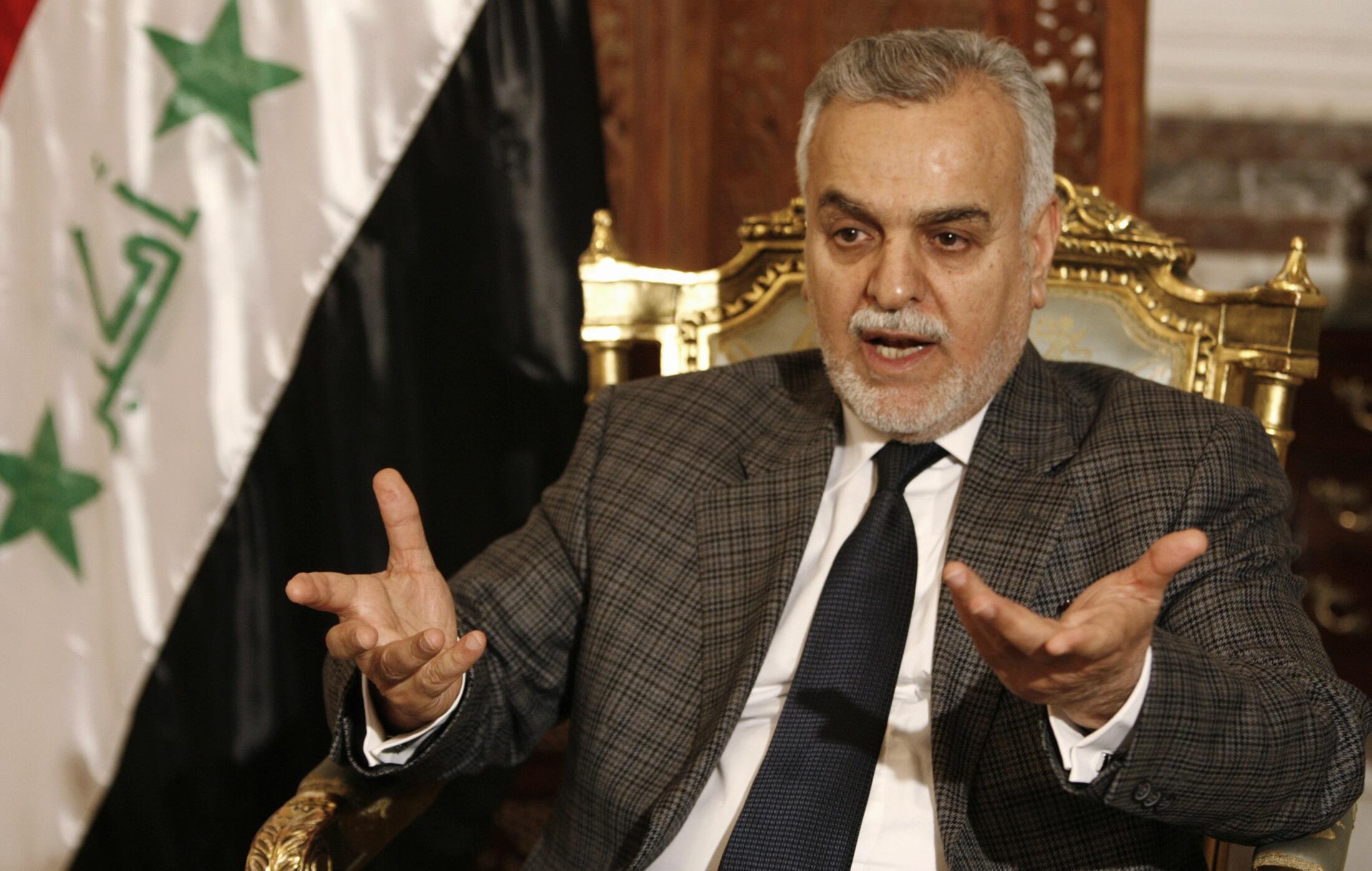 Tareq al-Hashemi lokacin da yake zantawa da kamfanin Dillacin labaran Reuters