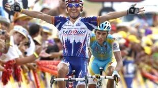 L'Espagnol Joaquin Rodriguez remporte la 12e étape devant son compatriote Alberto Contador.