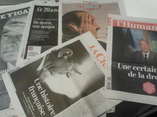 Primeiras páginas dos jornais franceses 27 de setembro de 2019