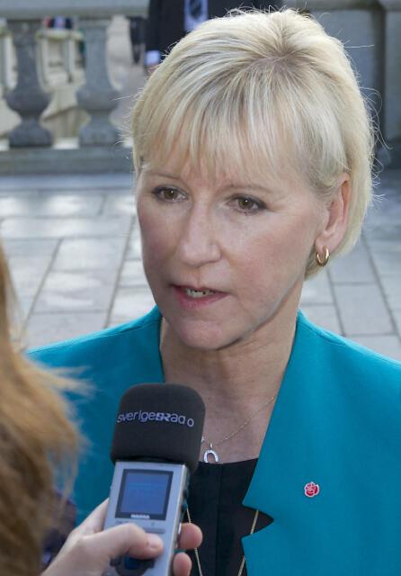 Margot Wallström, ministre des Affaires étrangères de la Suède, auteure d'un traité sur la diplomatie féministe.