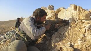 Soldat de l'ASL à Deraa, le 14 juin 2013.