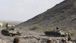 Йеменские танки на севере страны, лето 2014