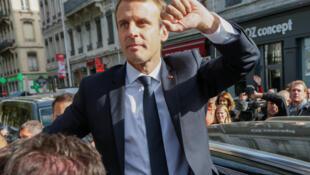法國總統馬克龍近照