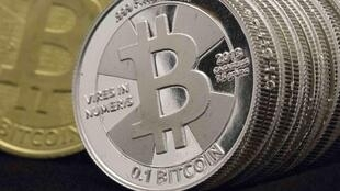 Bitcoins, a virtual currency.
