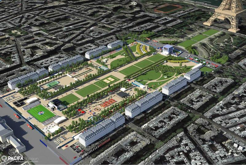 Mô hình khu vực Fanzone Champs-de-Mars