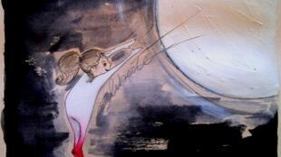 Dessin réalisé à partir de « Ecouter les souvenirs sonores de la Parisienne Alina Cantau ».