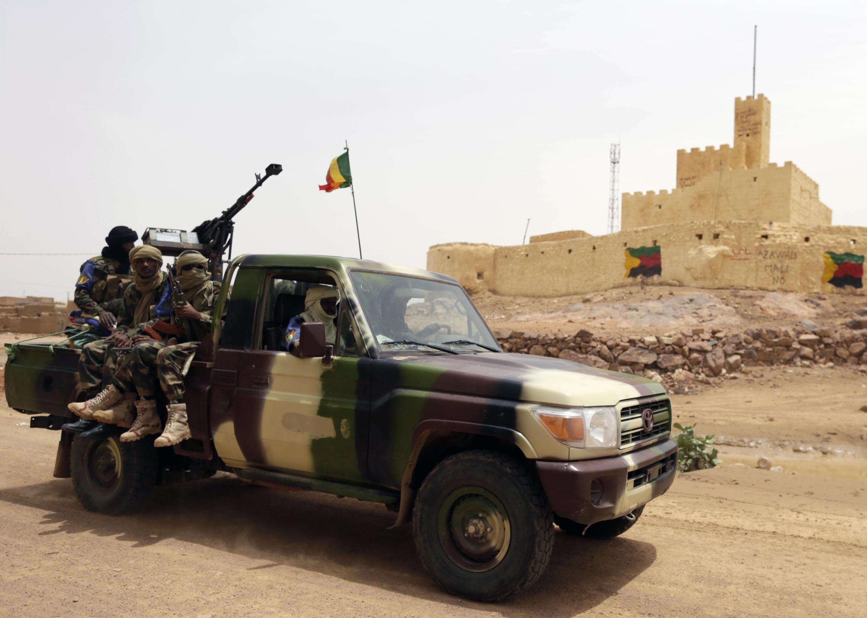 Malian troops in Kidal
