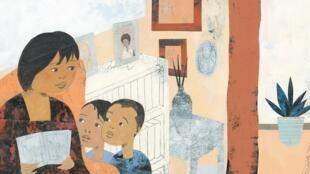 Illustration de Sean Qualls dans « Grand-père Mandela », de Zindzi Mandela.