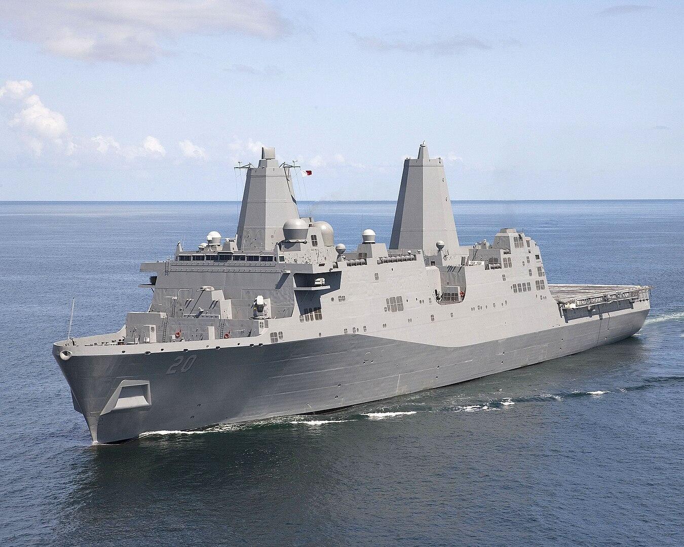 Ảnh minh họa: Tầu vận tải đổ bộ USS Green Bay ở New Orleans, Mỹ.