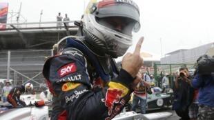 O piloto alemão Sebastian Vettel.