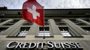 Une banque Crédit Suisse, le 8 mai 2014 à Bern