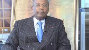 Casimir Oyé Mba, n°2 de l'opposition gabonaise.