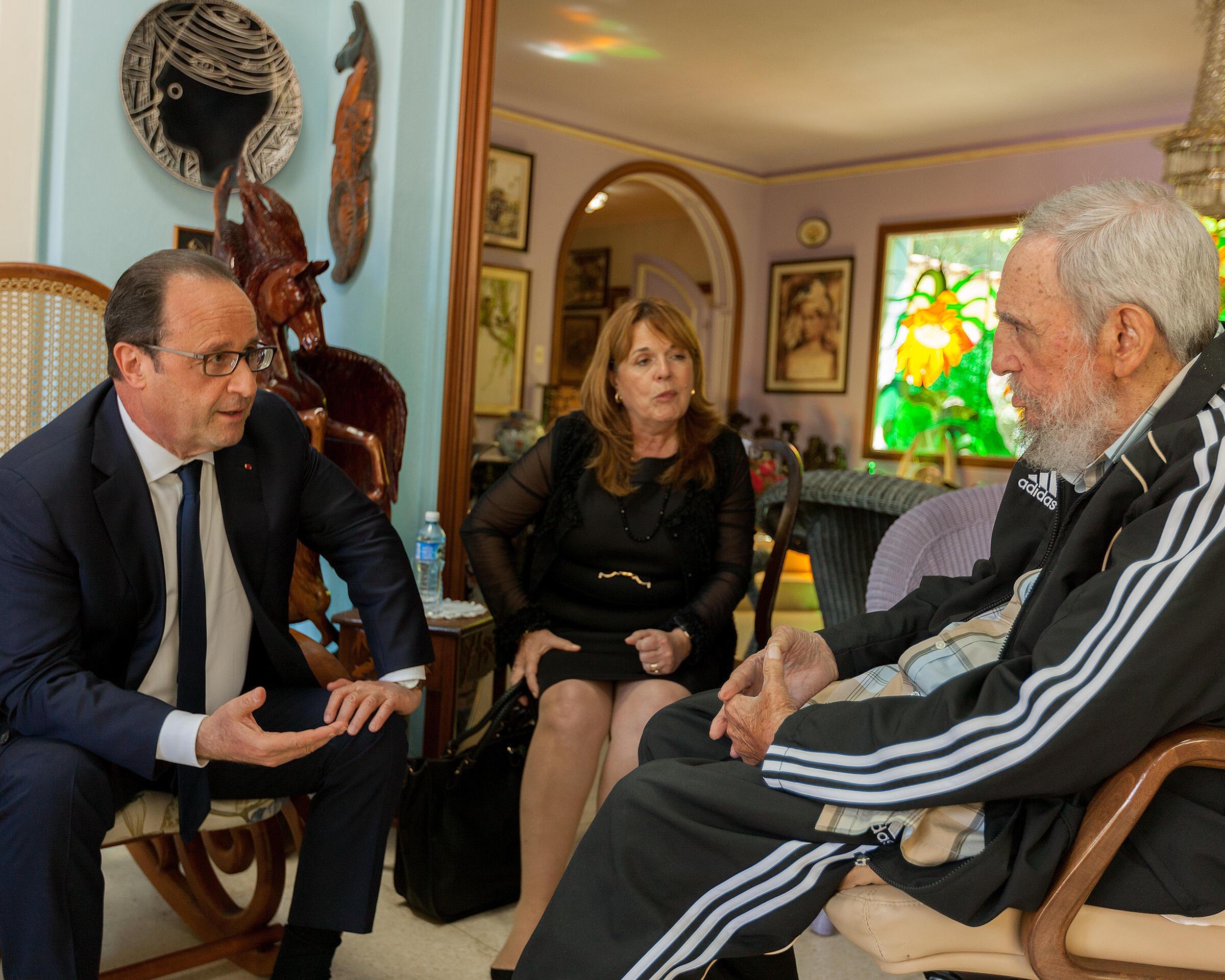 Fidel Castro and François Hollande,  Havana, 11 may 2015.