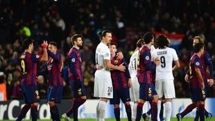 Le PSG s'est incliné sur la pelouse du FC Barcelone (1-3), lors la 6ème journée de la Ligue des Champions, le 10 décembre 2014.