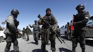 Vikosi vya Afghanistan vikitoa ulinzi mkali katika eneo la shambulio.