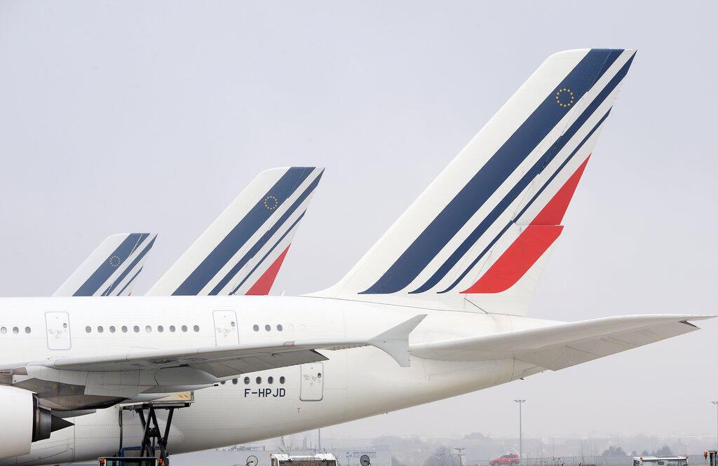 Des appareils de la compagnie Air France, en décembre 2016 à l'aéroport de Roissy-Charles-de-Gaulle, près de Paris.