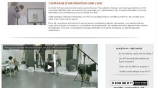 Page d'accueil ivg.gouv.fr