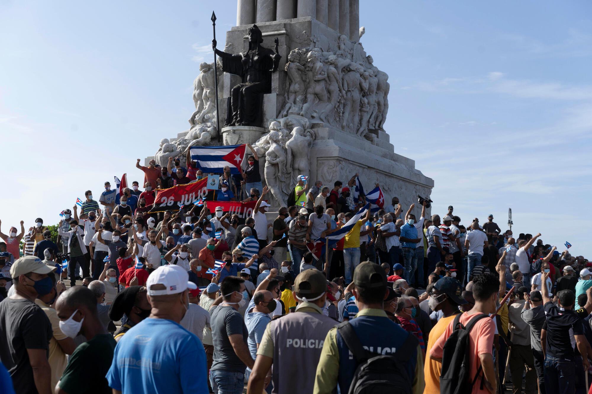 Cuba - La Havane - manifestation