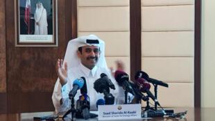 Saad al-Kaabi, Ministro de Estado para Assuntos Energéticos, fala durante coletiva em Doha, no Catar. 03/12/18.