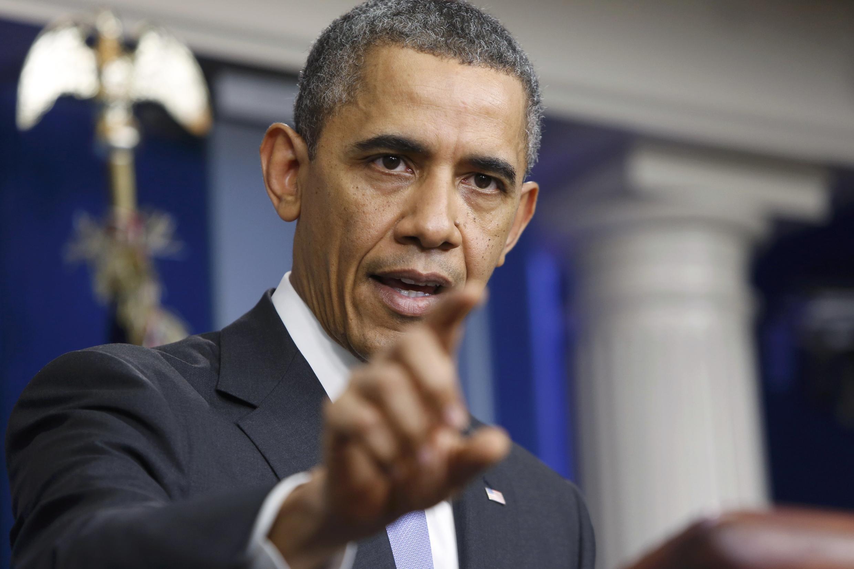 Le président Barack Obama, le 20 décembre 2013 à la Maison Blanche.