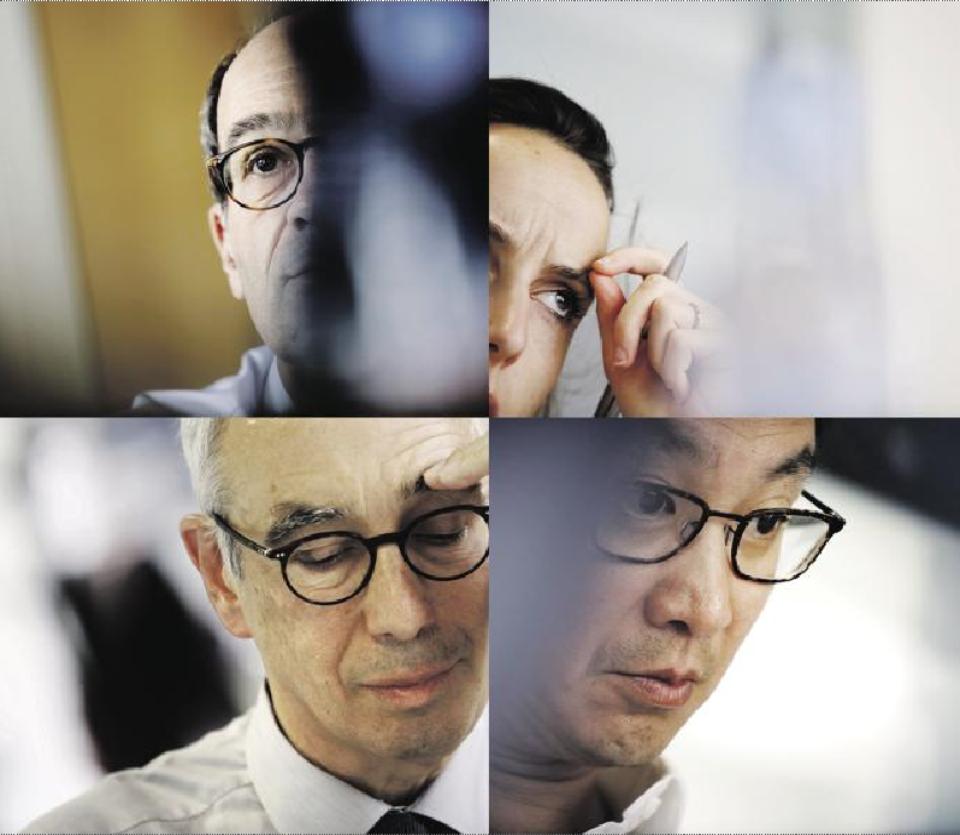 "مشاوران اقتصادی ""ژان لوک ملانشون""، ""بونوآ هامون""، ""امانوئل ماکرون"" و ""فرانسوا فیون"""