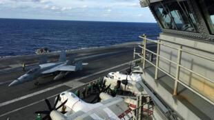 Tàu sân bay USS Ronald Reagan trong cuộc  tập trận Keen Sword cùng Hải quân Canada và Nhật Bản. Ảnh ngày 03/11/2018 tại vùng Tây Thái Bình Dương.