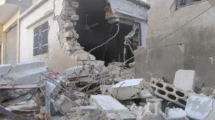 hare haren da ake kai wa birnin Homs na kasar Syria
