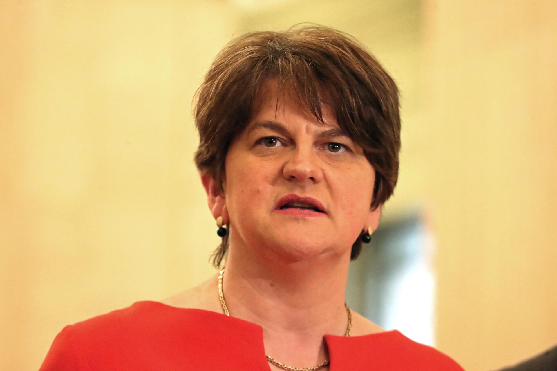 Arlene Foster first minister of Northern Ireland, 2020