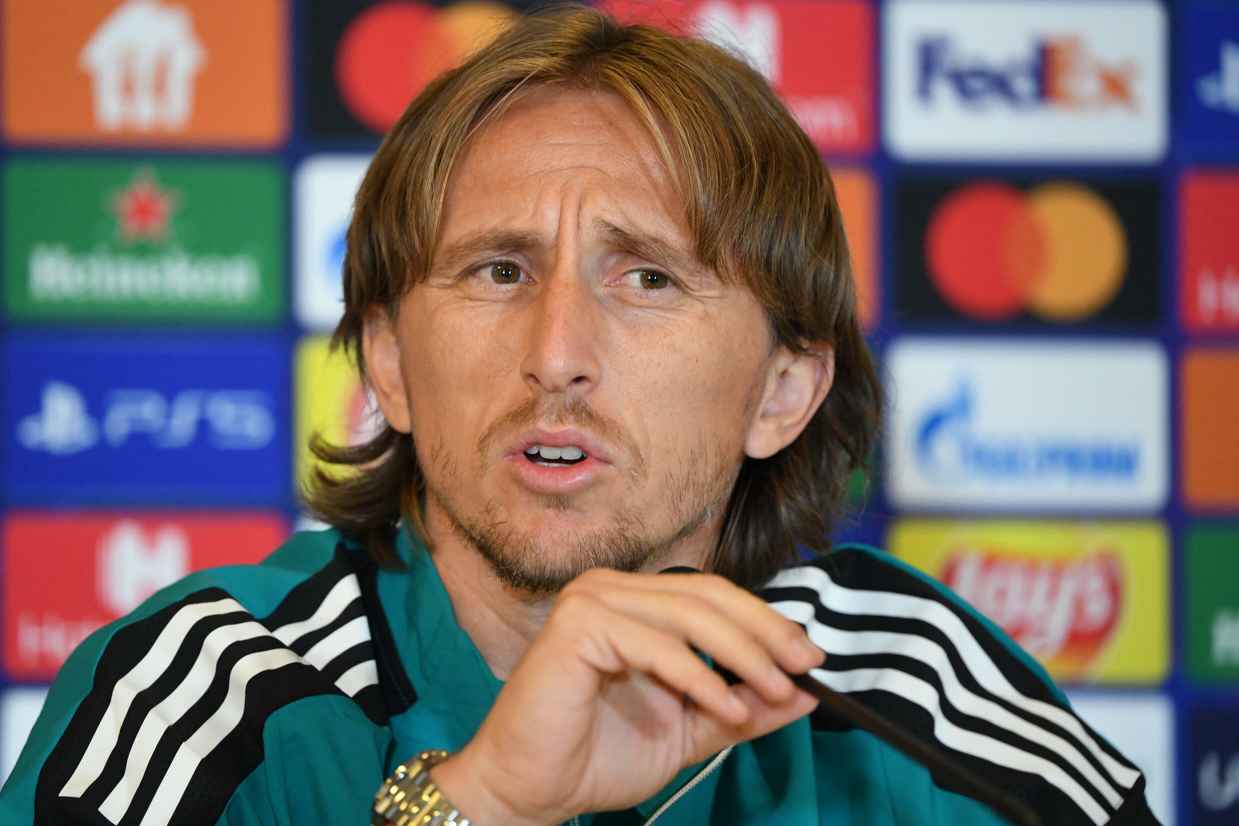 Luka Modric told a press conference ahead of Real Madrid's Champions League game against Shakhtar Donetsk that he was against making World Cups more frequent.