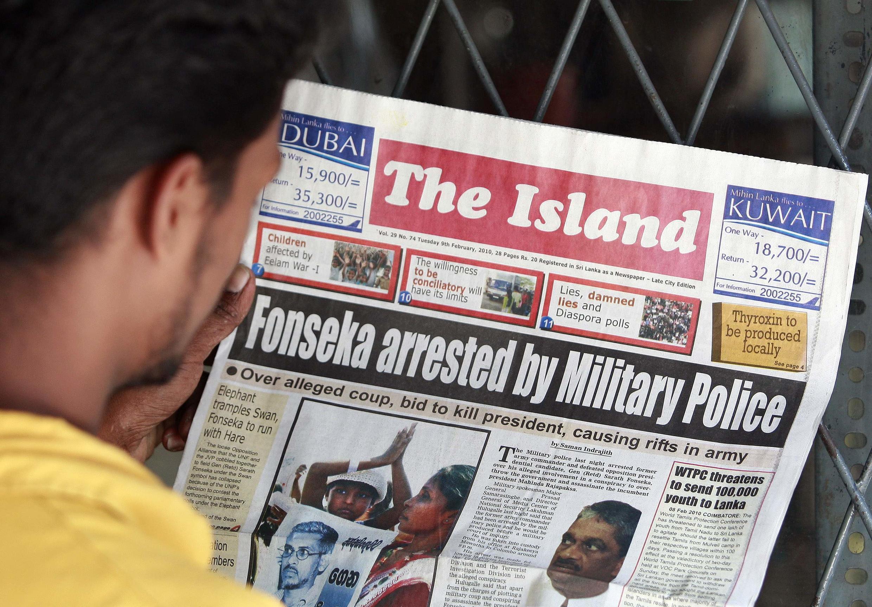 A newspaper details Fonseca's arrest