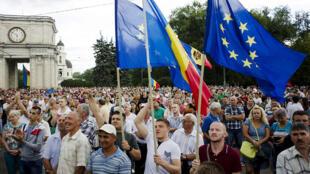 Manifestación en Moldavia